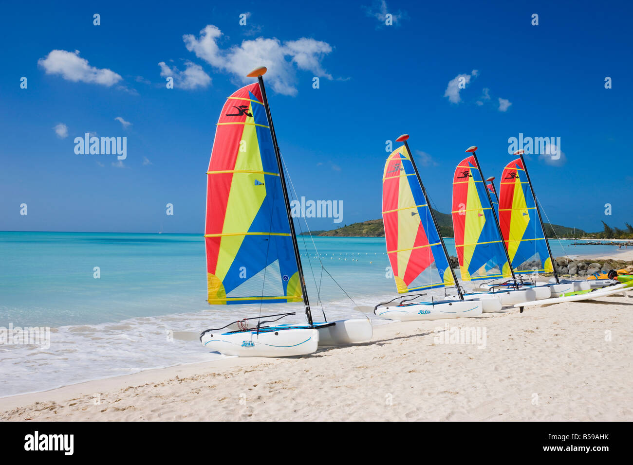 Jolly Beach Resort Antigua Map%0A Colourful sailboats on Jolly Beach  Antigua  Leeward Islands  West Indies   Caribbean