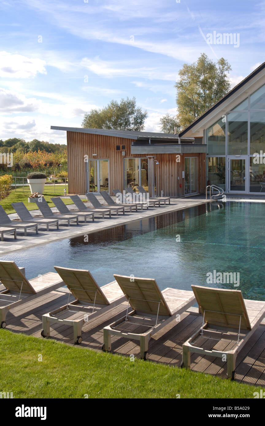 The Spa With An Outdoor Swimming Pool At The Lower Mill