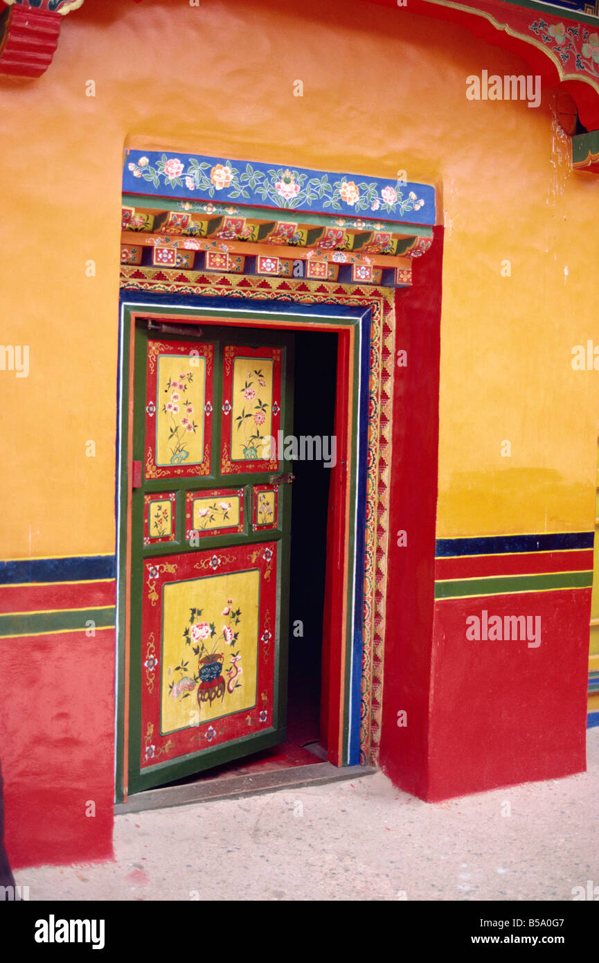Traditional painted door in the summer palace of the Dalai Lama Norbulingka Lhasa Tibet Asia G Corrigan & Traditional painted door in the summer palace of the Dalai Lama ...