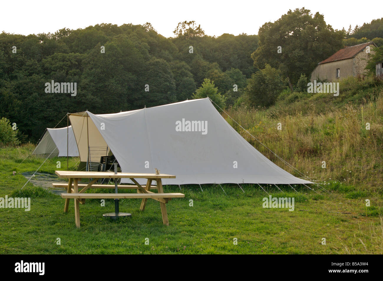Tents at a c&sight in the Morvan Burgundy France & Tents at a campsight in the Morvan Burgundy France Stock Photo ...
