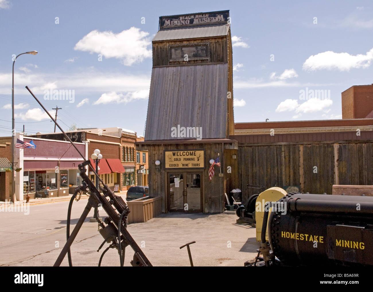Black Hills Mining Museum Lead South Dakota USA Stock Photo - Black museums in usa