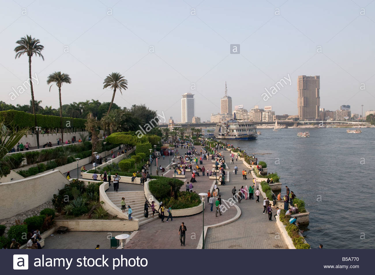 Zamalek Egypt  city photos gallery : View Of The Promenade Along Nile River In Zamalek Island Cairo Egypt ...