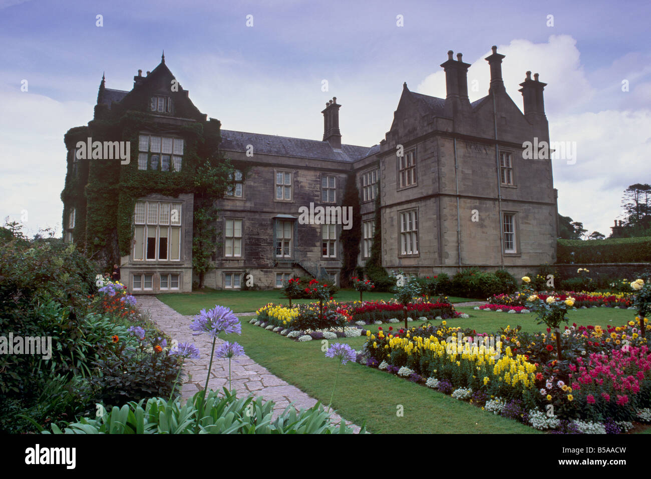 muckross house dating from 1843 victorian house and gardens stock