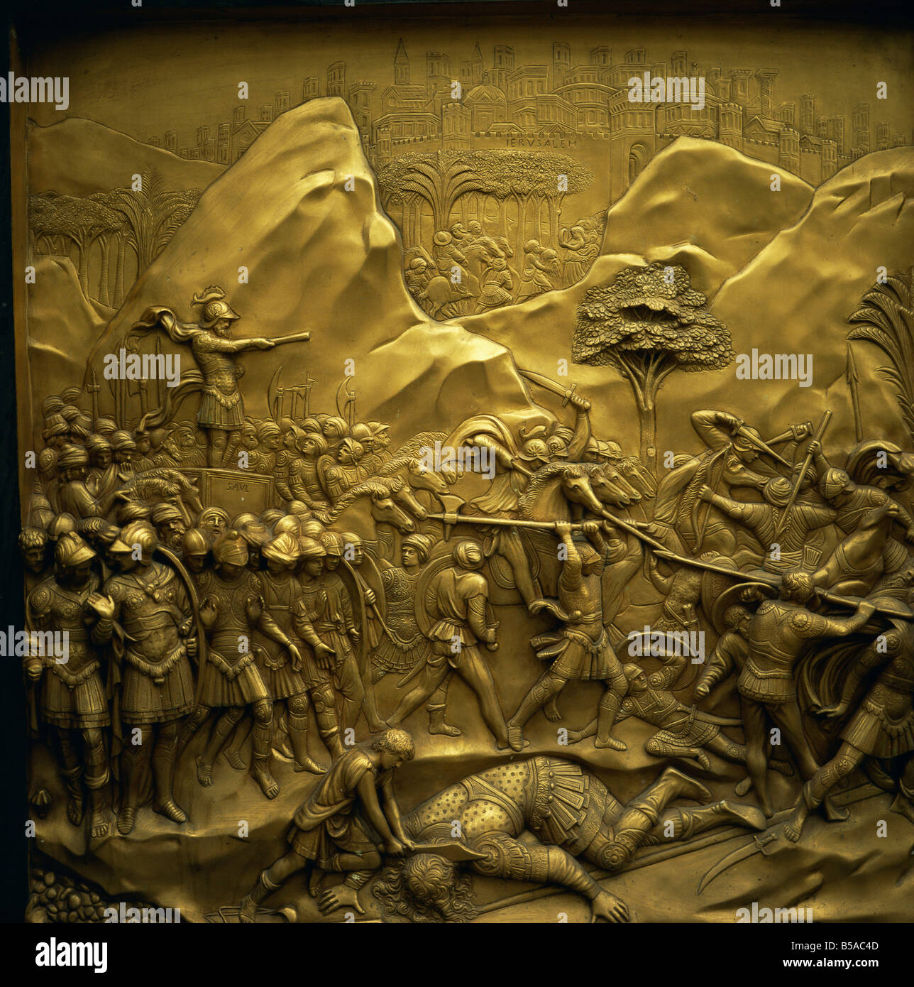 Baptistery bronze East door by Ghiberti Gates of Paradise Florence UNESCO World Heritage Site Tuscany Italy Europe & Baptistery bronze East door by Ghiberti Gates of Paradise ... Pezcame.Com