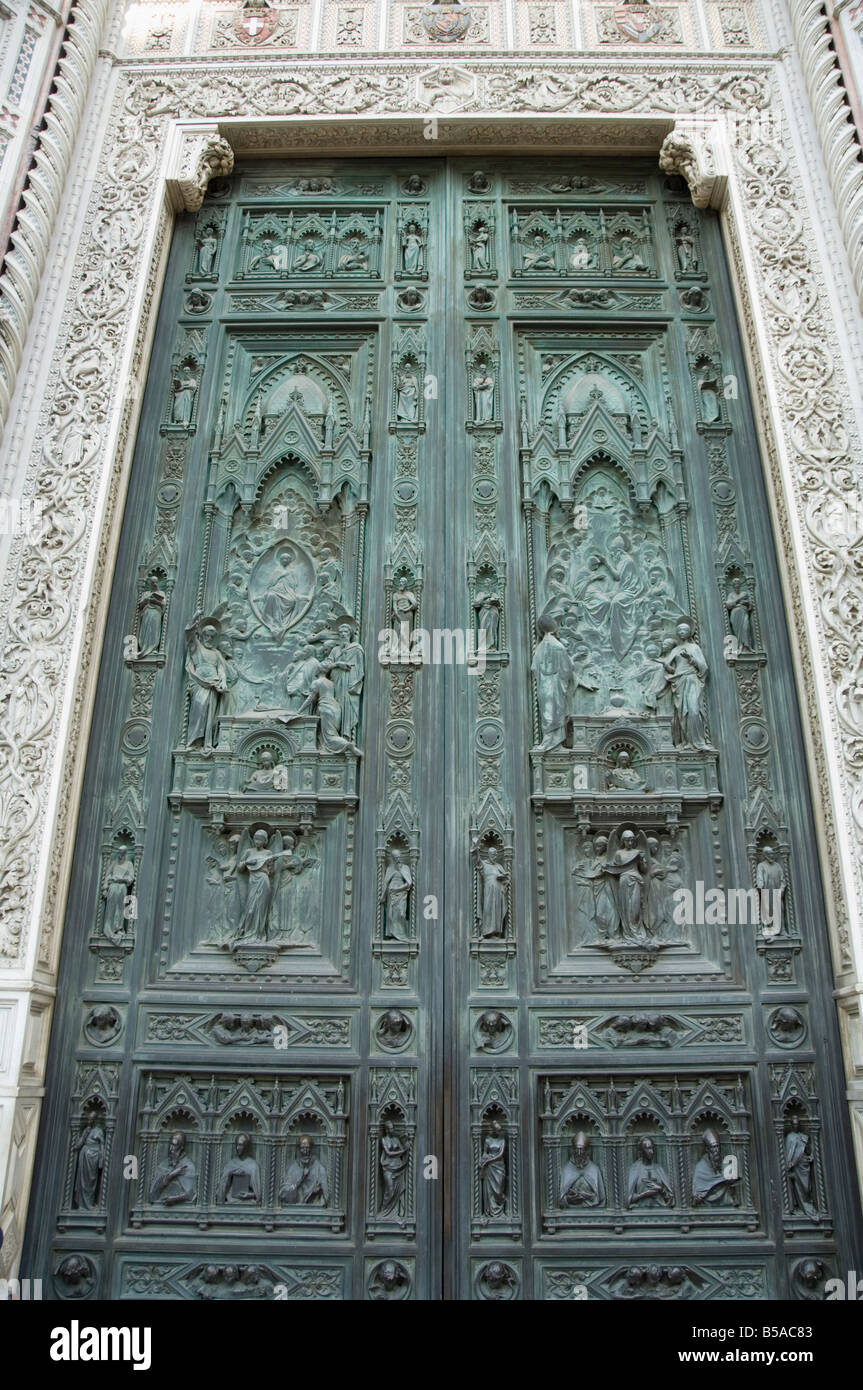 Ghiberti\u0027s door the gates of paradise east door of the Battistero (Baptistry) Florence (Firenze) Tuscany Italy Europe & Ghiberti\u0027s door the gates of paradise east door of the Battistero ...