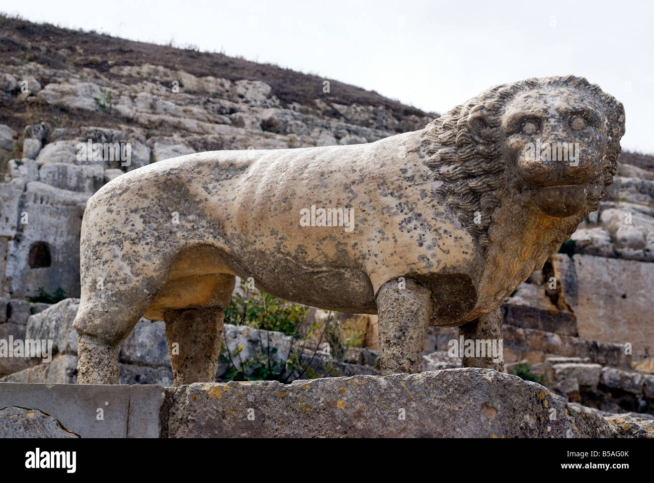 Lion statue, Temple of Apollo, Sanctuary of Apollo, Greek ...