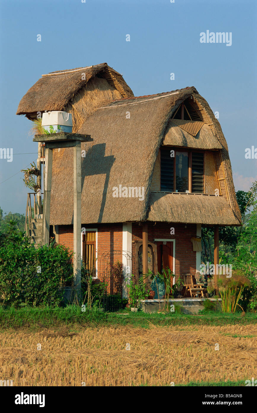 Modern house built in traditional style near ubud bali indonesia asia l murray
