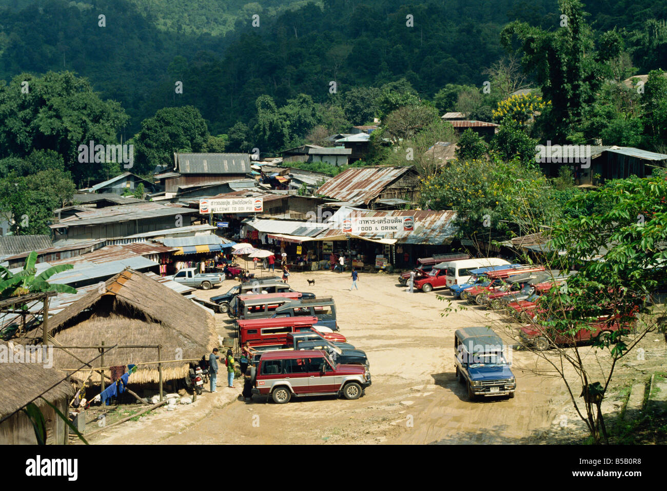 Modern Village of the Meo people at Chiang Mai Thailand Asia C Stock