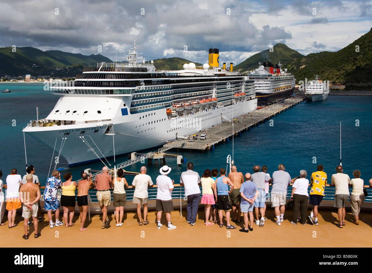 Cruise Ship Terminal Wathey Pier Philipsburg St Maarten Stock - Philipsburg st maarten cruise ship schedule