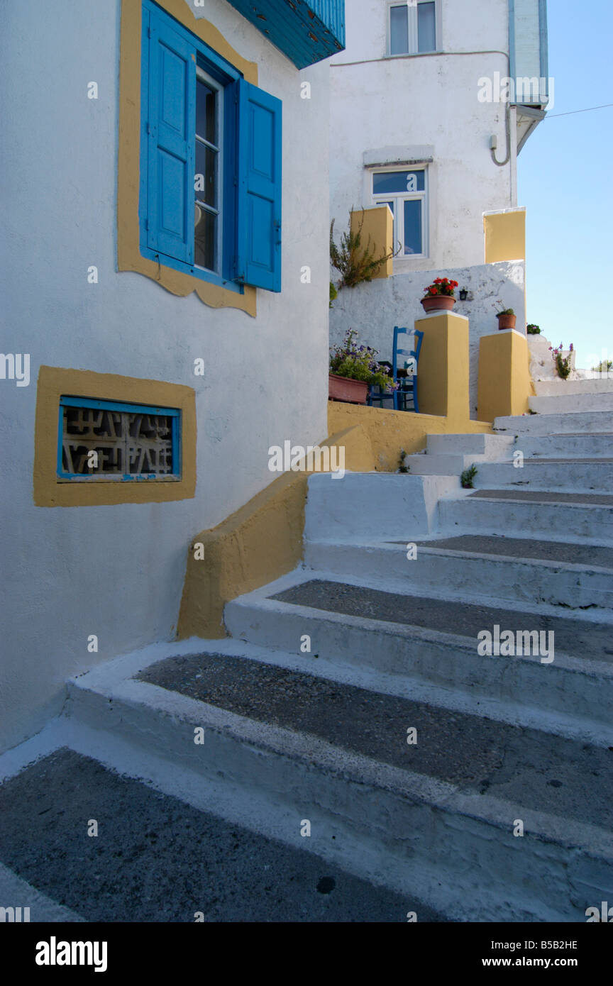 Traditional Greek Houses traditional greek houses, kokkari samos greece 2006 stock photo