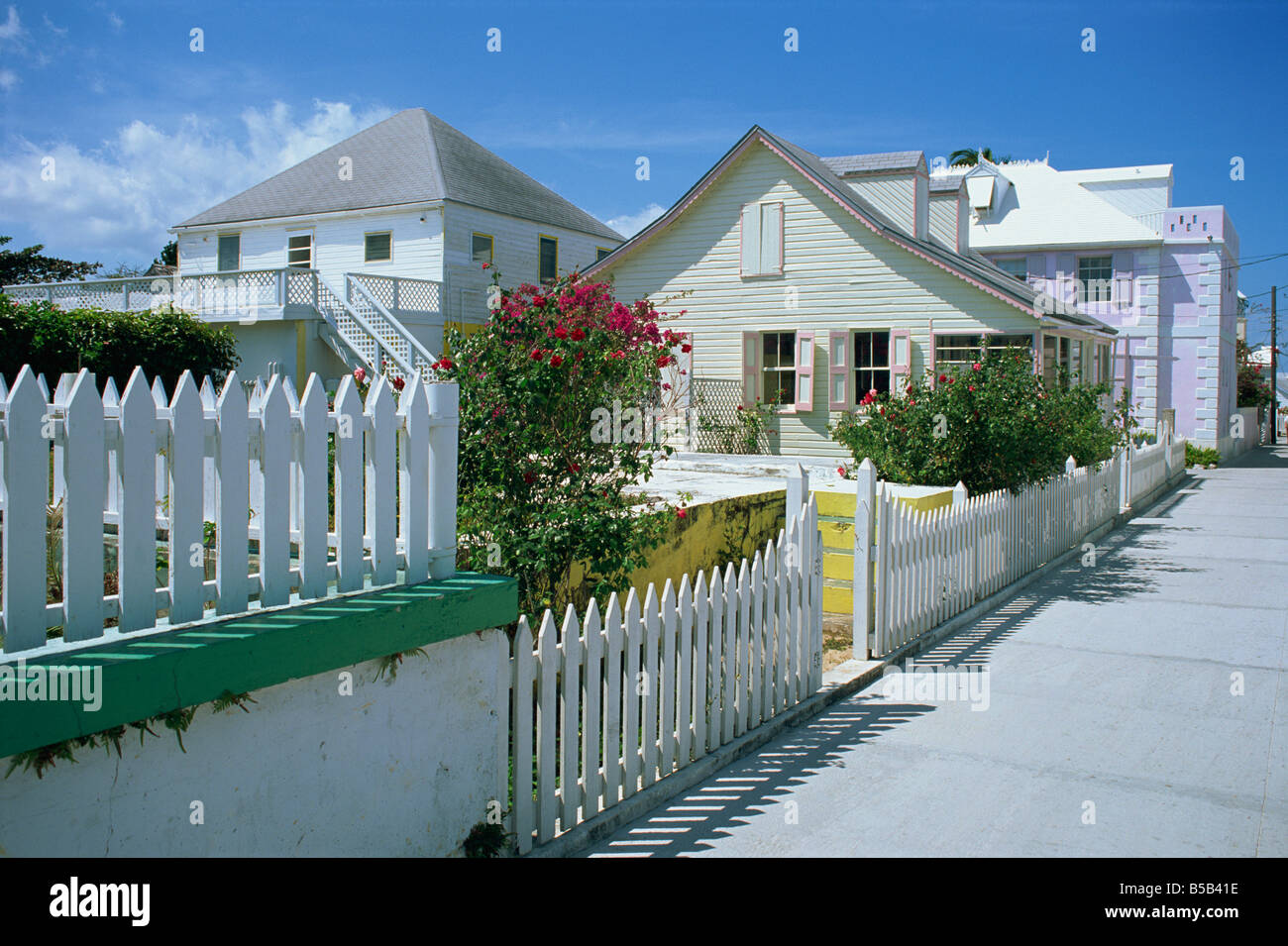 House rentals green turtle cay - Quiet Street Scene And Houses New Plymouth Green Turtle Cay Bahamas Caribbean J Lightfoot Firecrest Pictures