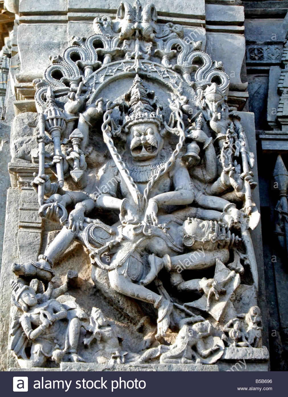 Stone carvings in chennakesava temple belur karnataka
