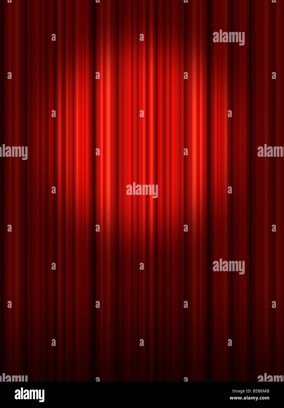 Stage curtains spotlight - Spotlight On Red Theatre Stage Curtains
