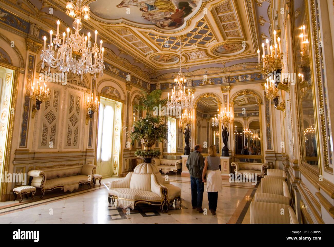 Ballroom Salon De Bail In The Palacio Del Marques De Dos Aguas Which Stock Ph...