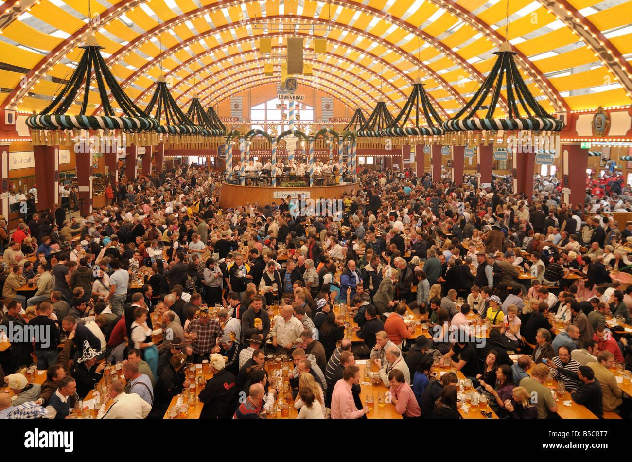 Crowded Oktoberfest beer tent Munich & Crowded Oktoberfest beer tent Munich Stock Photo Royalty Free ...