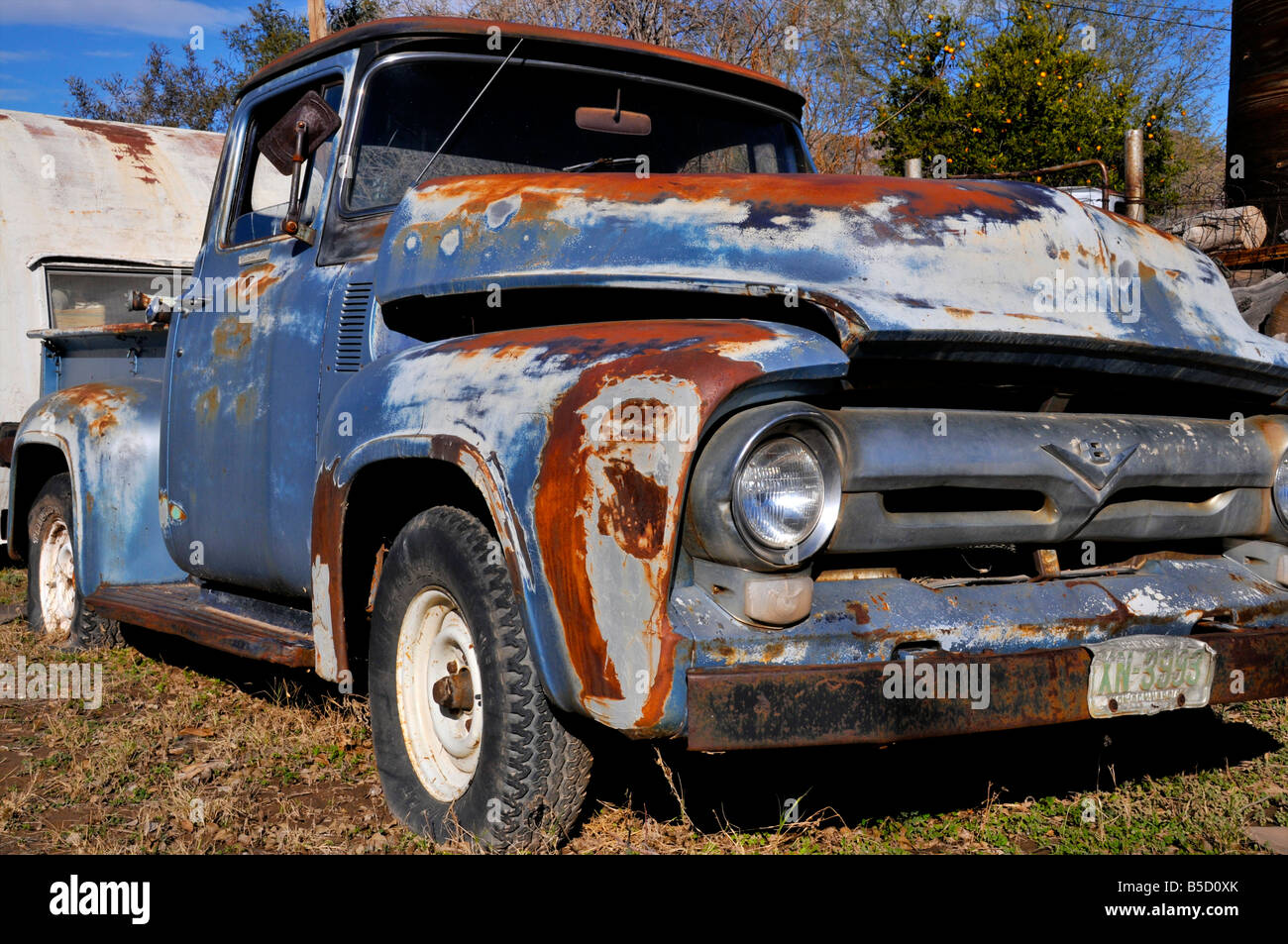And old Ford Pickup truck rusting away in Old Town Superior, along ...