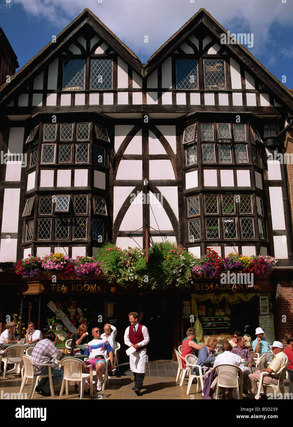 Tudor Facade outdoor tea room and tudor building facade winchester hampshire