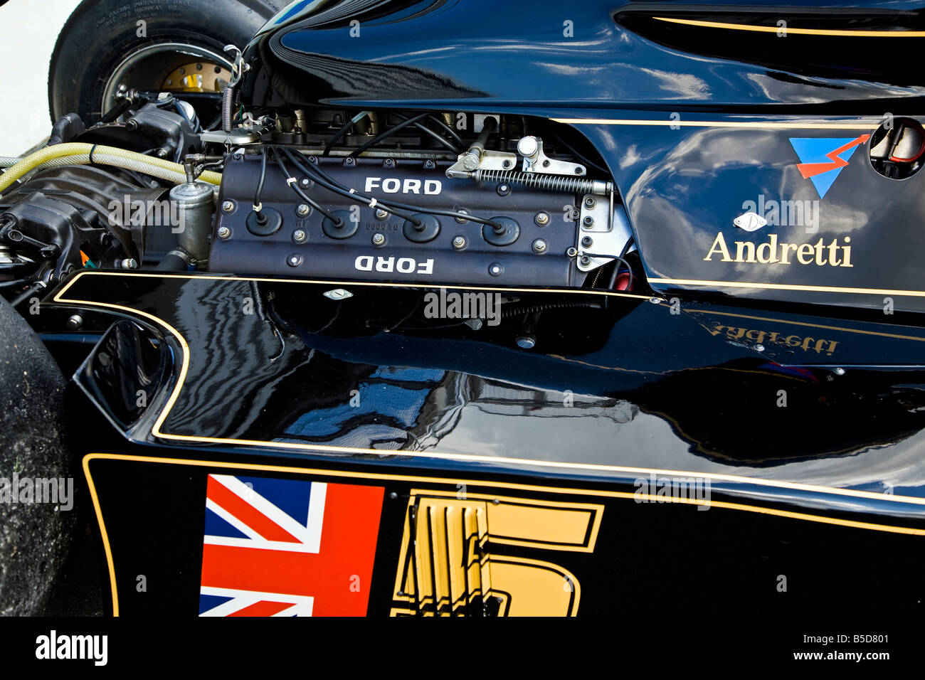 Ford F1 Engine On A Historic Lotus 77 Formula 1 Grand Prix