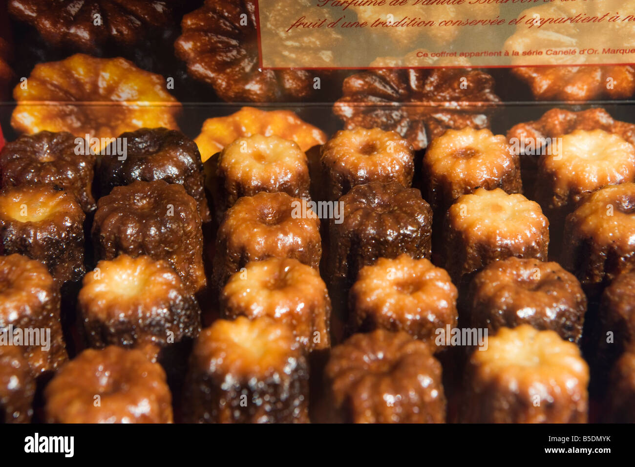 Caneles bordeaux france french food pastry cuisine stock for Aquitaine france cuisine