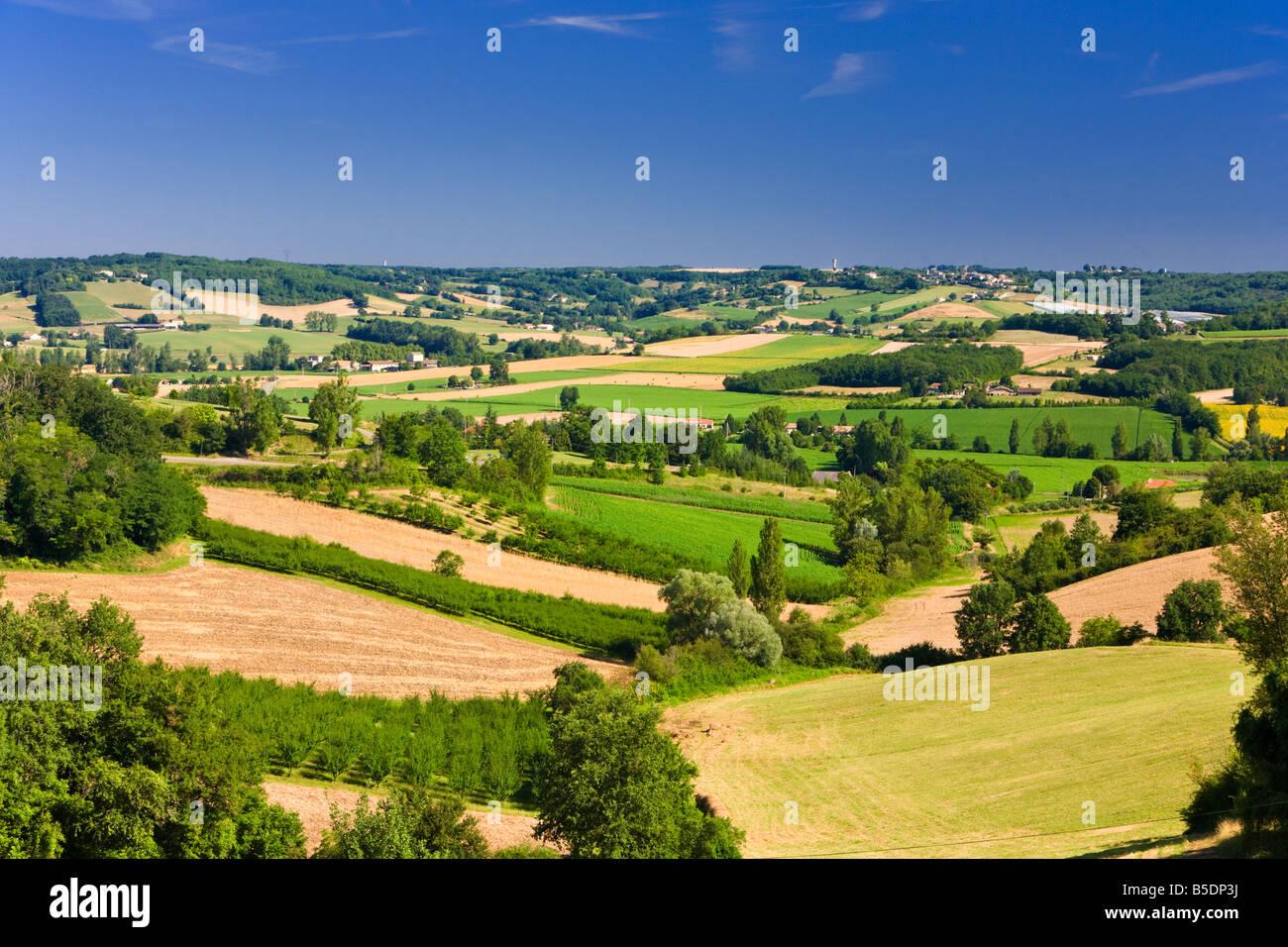 The landscape of Tarn et Garonne, France Europe in summer Stock ...