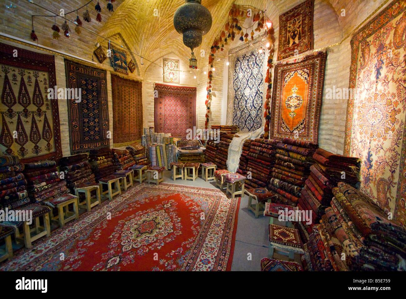 Persian Carpet Shop In Bazaar E Bozorg In Esfahan Iran