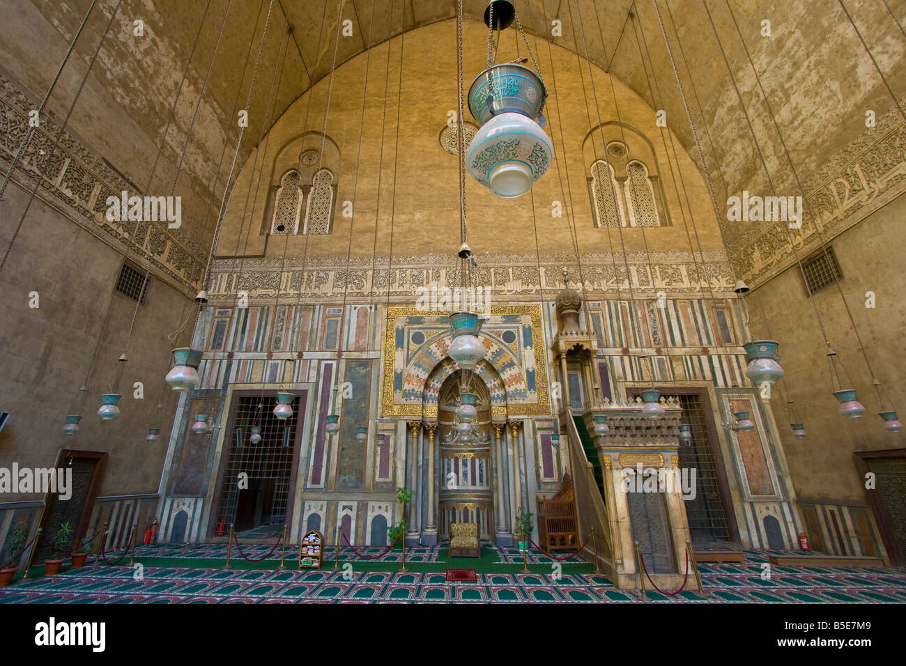 Inside Sultan Hassan Mosque In Islamic Cairo Egypt