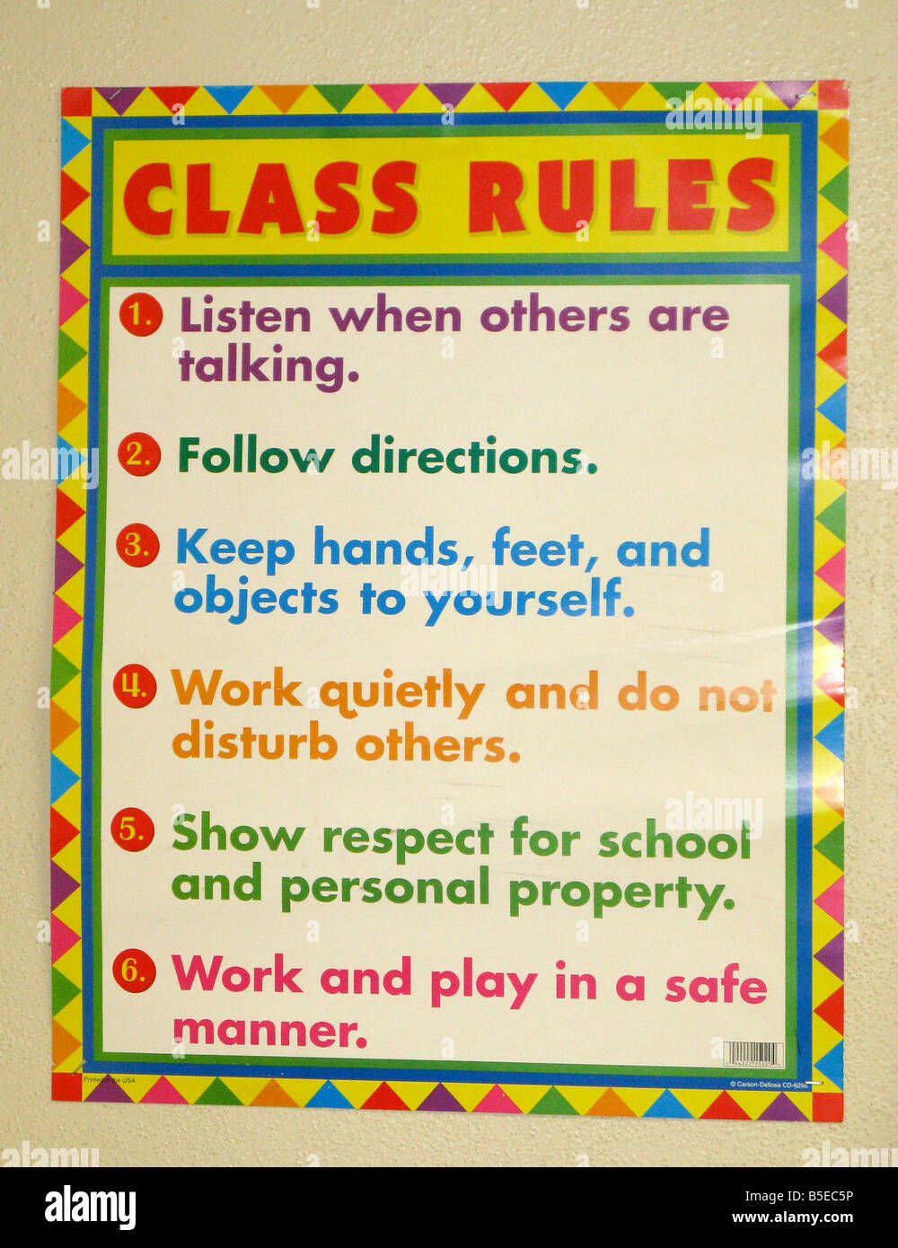 Classroom Rules Sign Stock Photo, Royalty Free Image ...