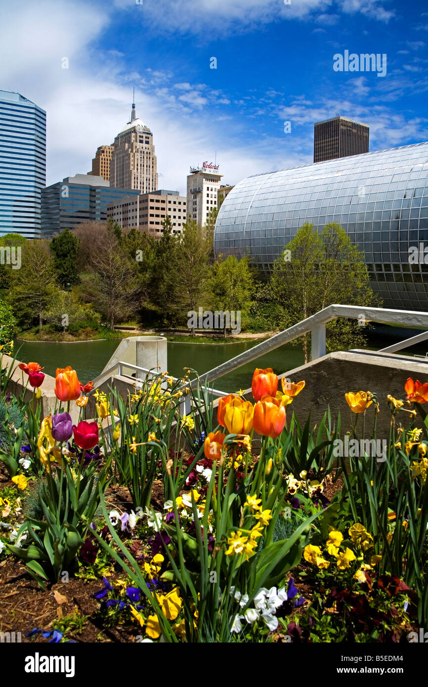 Myriad Botanical Gardens, Downtown Oklahoma City, Oklahoma, USA, North  America