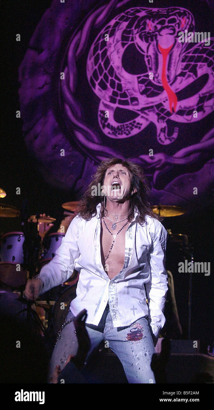 Whitesnake Lead Singer Rock Band Whitesnake Playing At The Newcastle City Hall Lead