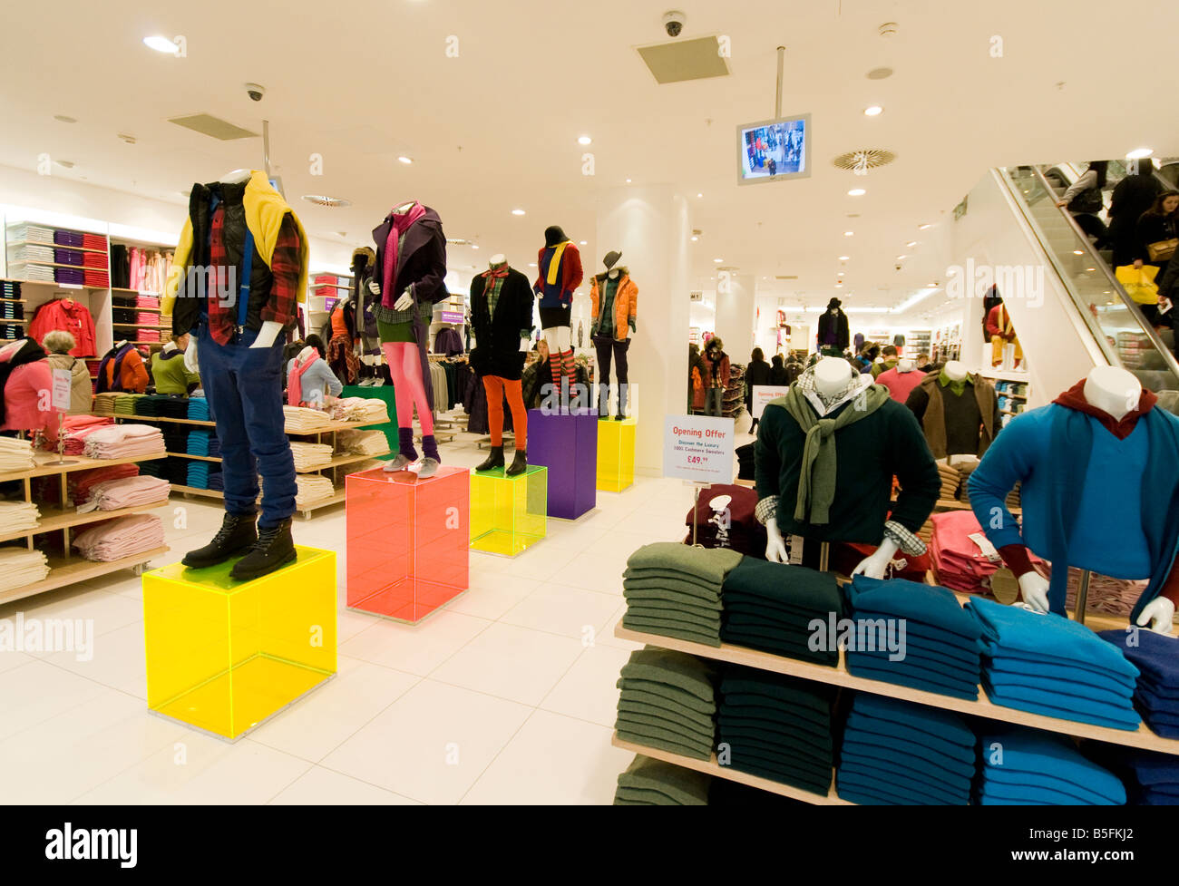 Inside Uniqlo clothing store in London Stock Photo, Royalty Free ...