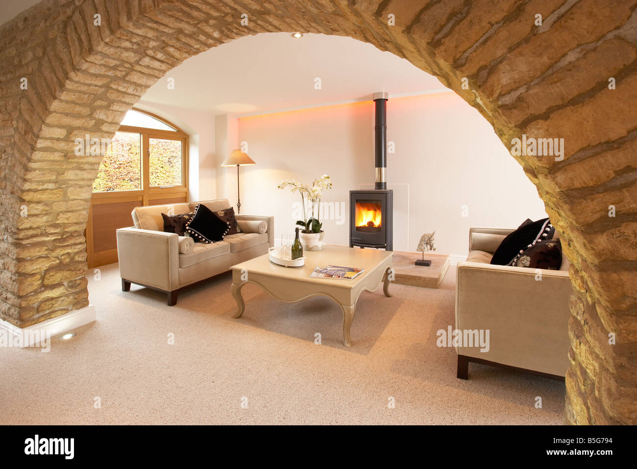 Interior Sitting Room In A Cotswold Barn Conversion