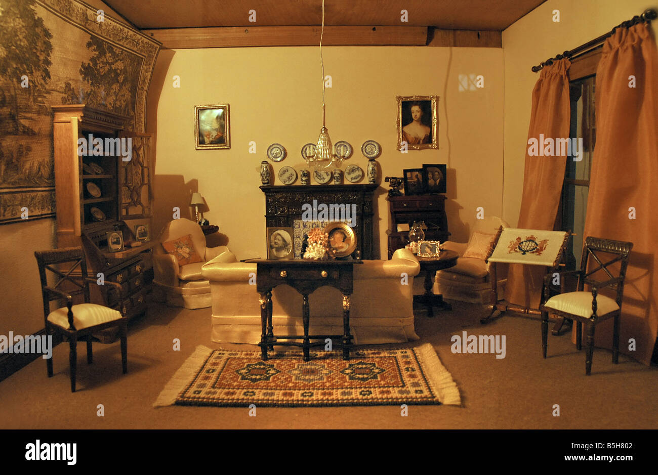The Interior Of One Of The Rooms Of A Dolls House Which Belonged - Dolls house interior