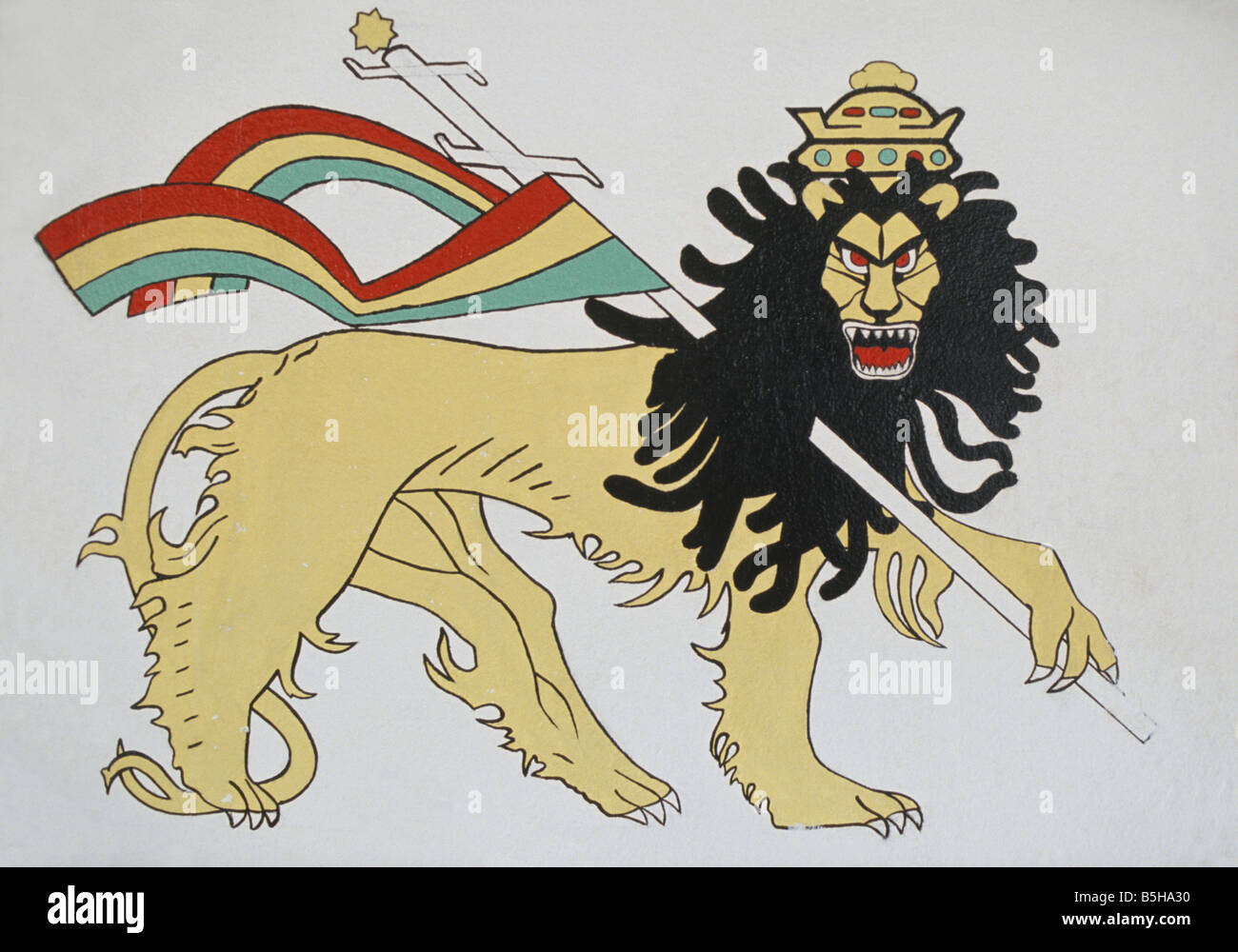 Rasta rastafarianism rastafarian stock photos rasta mural depicting a rastafarian lion of judah with dreadlocks in negril jamaica stock image biocorpaavc Image collections