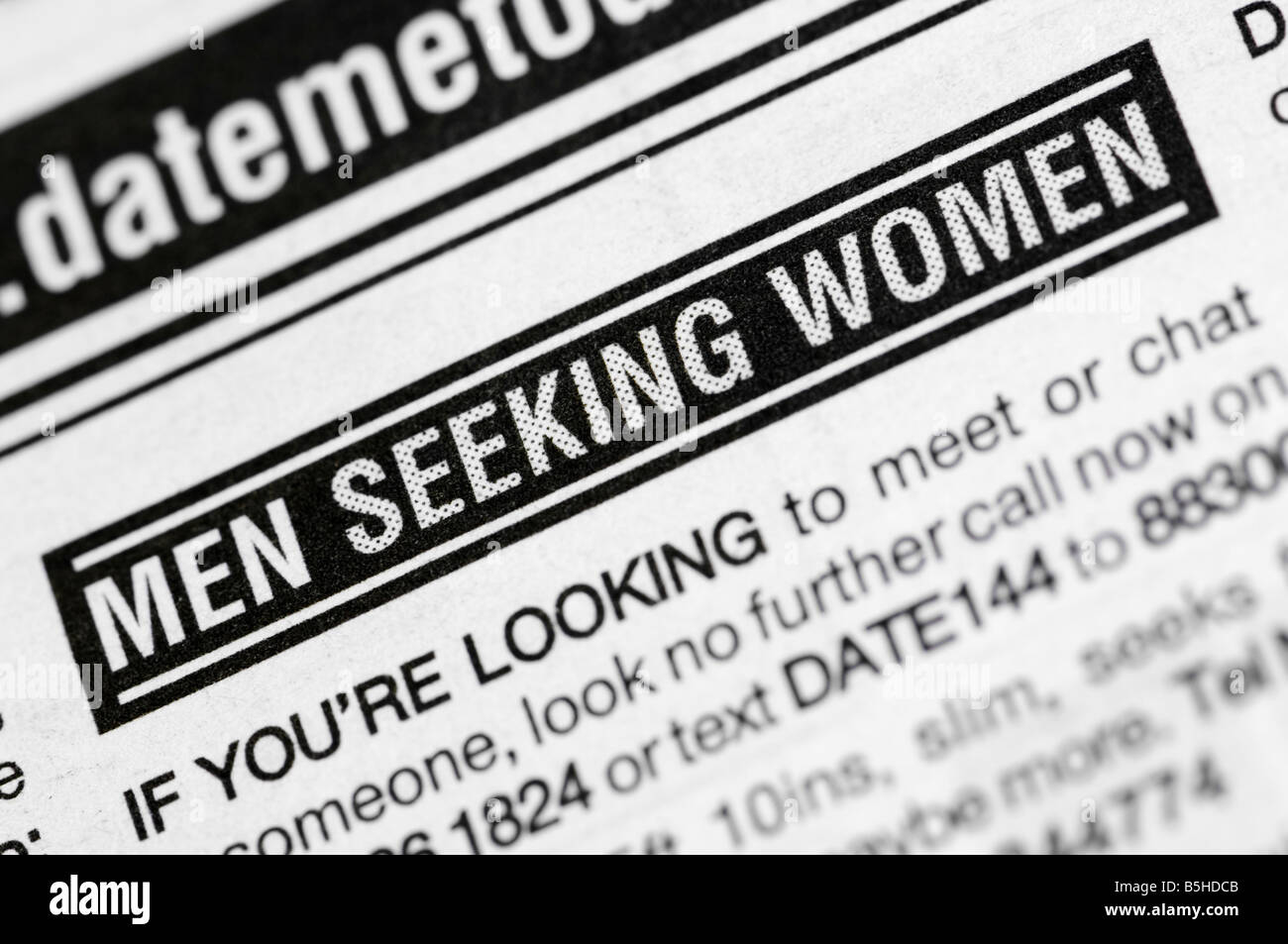 Personal ads women seeking men