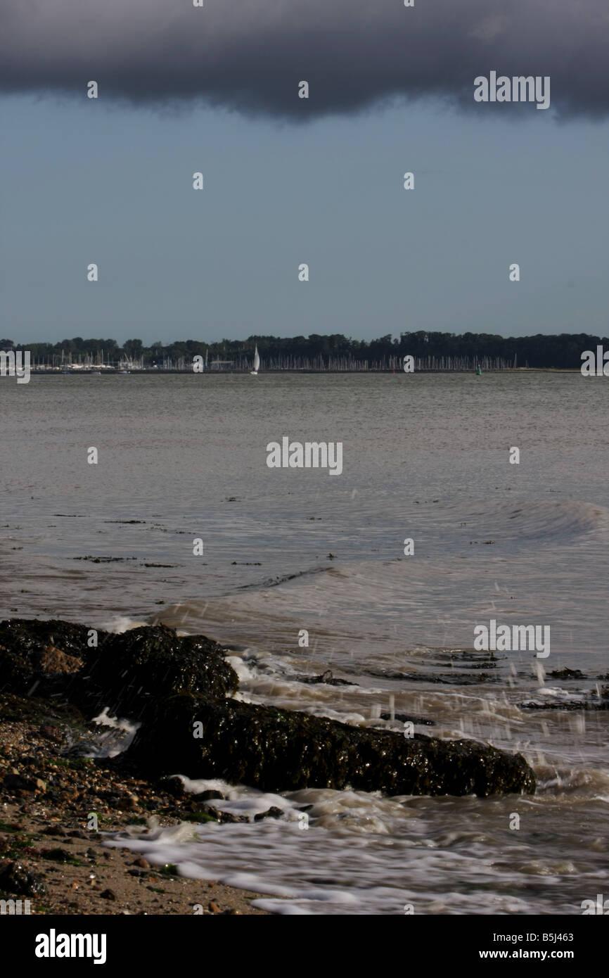 Levington marina from Shotley, Suffolk, United Kingdom Stock Photo ...