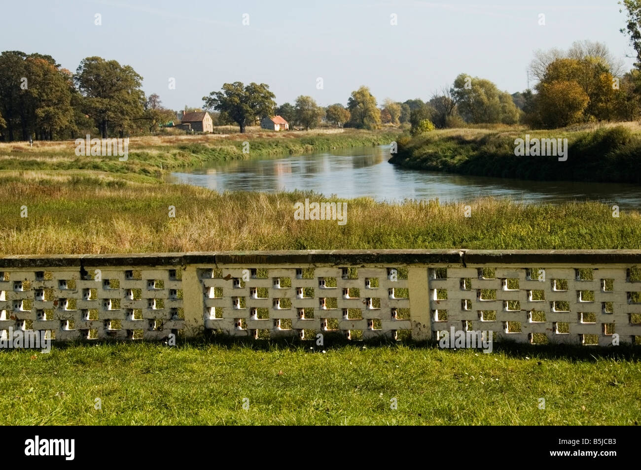 rural poland country view by the oder river brzeg dolny lower stock photo royalty free image. Black Bedroom Furniture Sets. Home Design Ideas