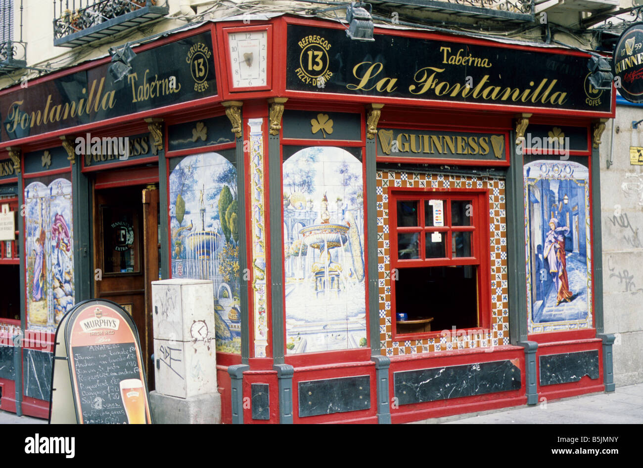 Madrid Spain Bar Called La Fontanilla Decorated With