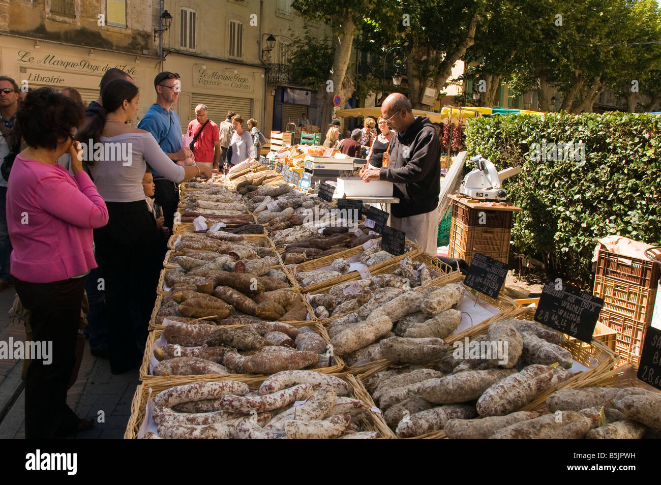 Saucisson On Sale At The Sunday Market In L Isle Sur La Sorgue Vaucluse  Provence France