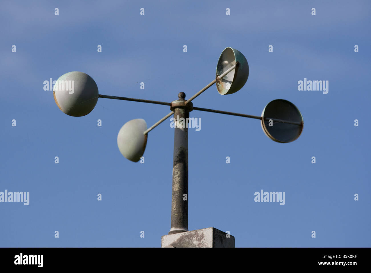 Cup Anemometer On Weather Station Westonbirt Uk Stock