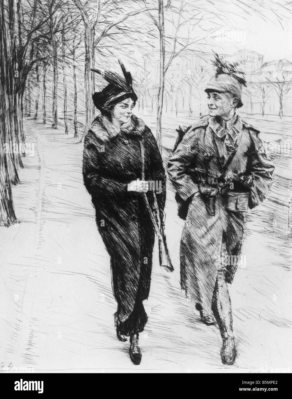O To Ww Bing Com1 Microsoft W: 9 1914 8 1 A4 WW1 War Volunteer Etching O Goetze World War
