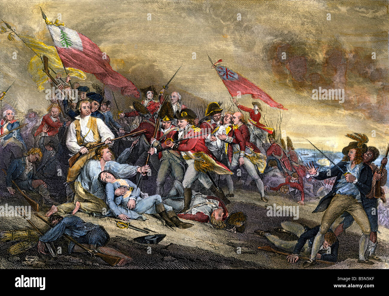 an account of events during the battle of bunker hill in 1775 The battle of bunker hill was an important battle even though it was fought over a  what were some types of colonial protest against the british between 1763-1775.