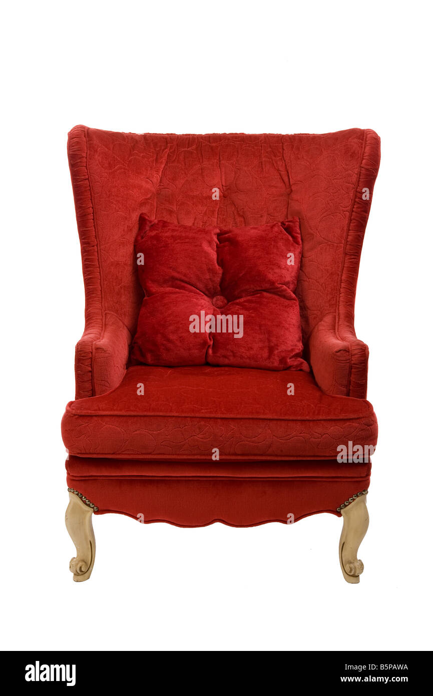 vintage red chair - Stock Image - Red Velvet Chair Stock Photos & Red Velvet Chair Stock Images - Alamy