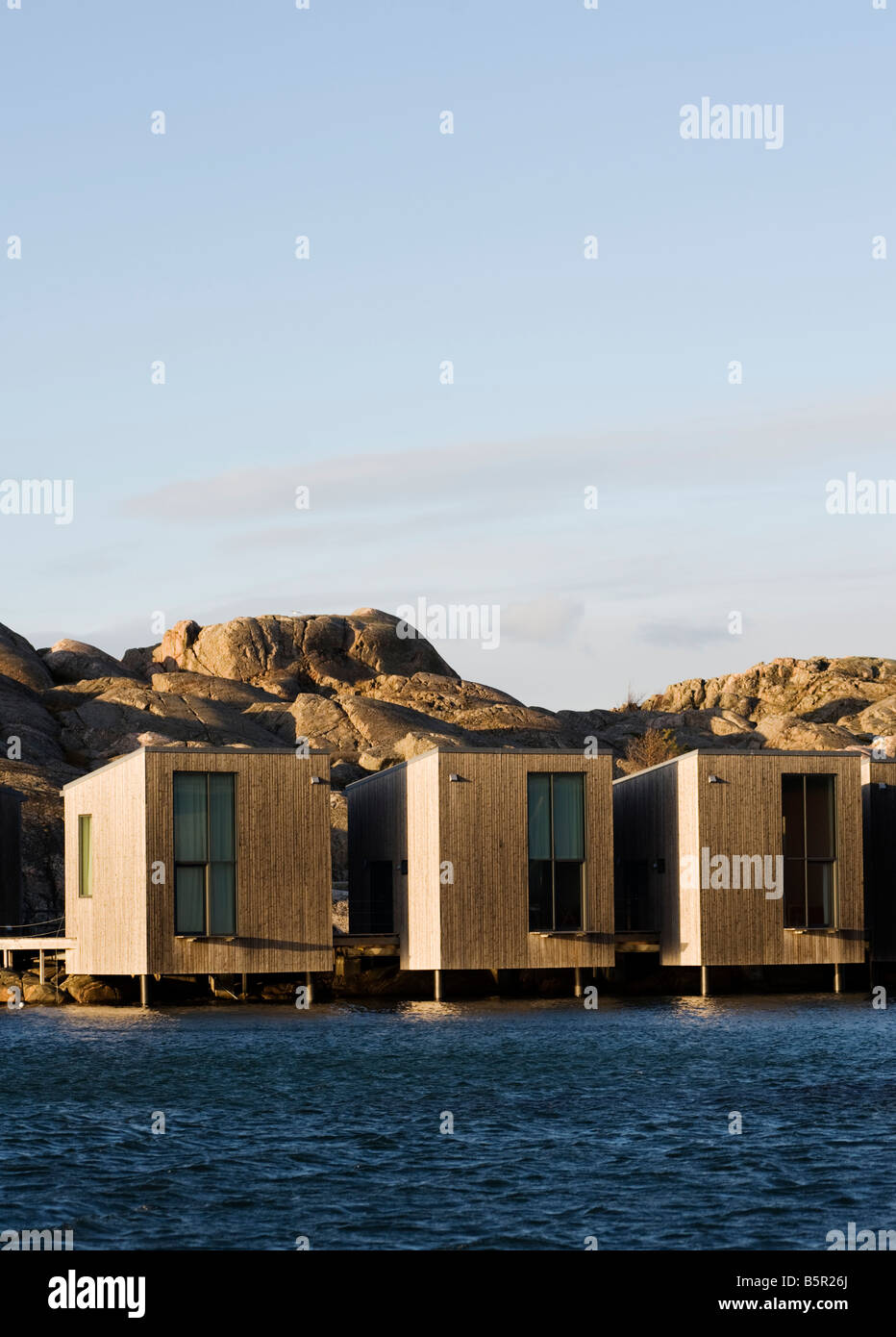 Modern Opposite Modern Wooden Vacation Huts Builtthe Sea Opposite The Nordic