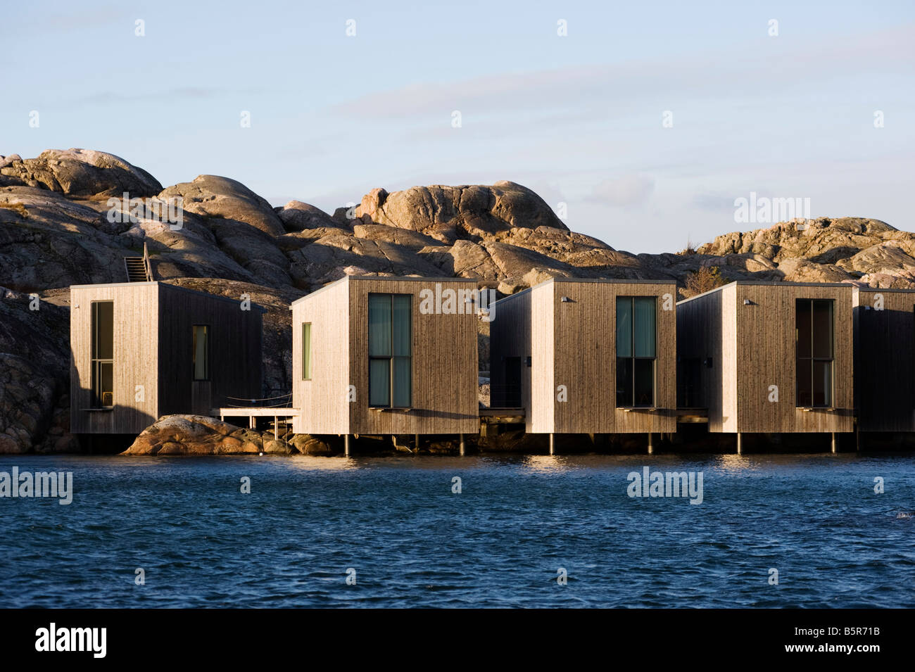 Modern Opposite Modern Wooden Vacation Huts Builtthe Sea Opposite The Nordic