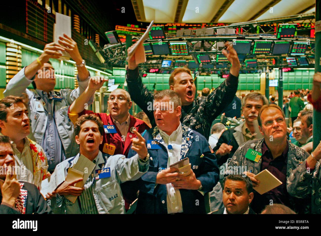 New York Board Of Trade Trading Floor Stock Photo Royalty