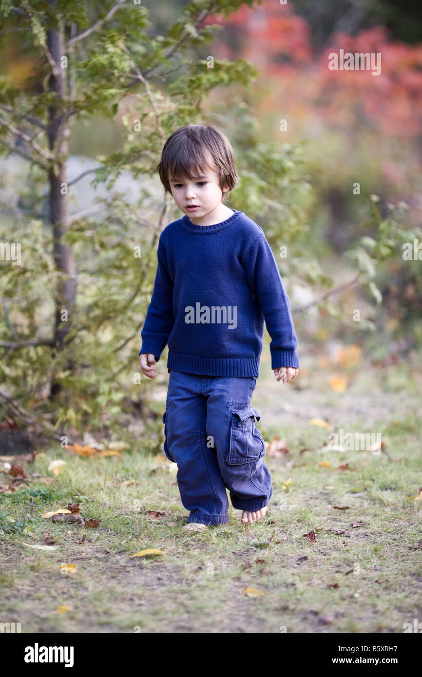 3 Year Boy Bedroom Ideas: 3 Year Old Boy Eurasian Looks Caucasian Barefoot During