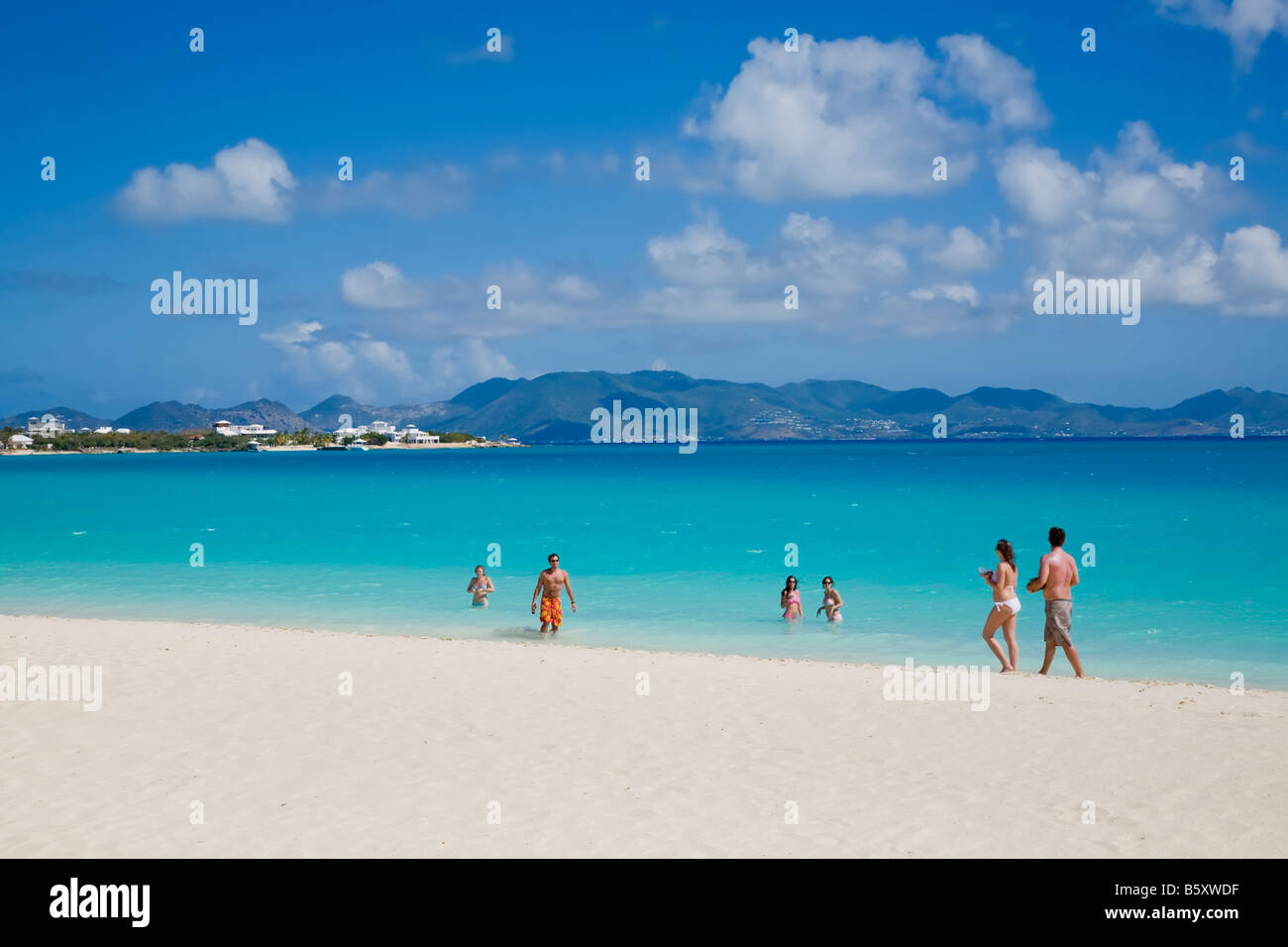 Rendezvous Bay Beach On The Caribbean Island Of Anguilla In British West Indies