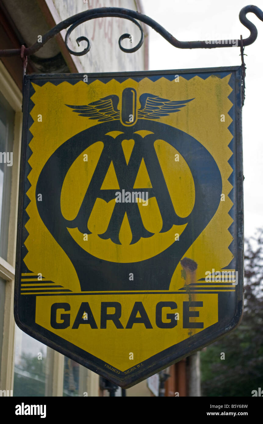vintage aa automobile association metal garage sign stock photo royalty free image 20881305. Black Bedroom Furniture Sets. Home Design Ideas