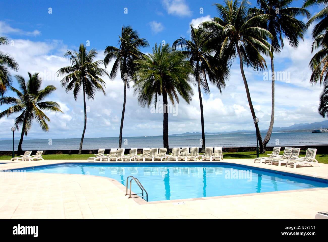 Swimming Pool Hotel Holiday Inn Suva Fiji Stock Photo Royalty
