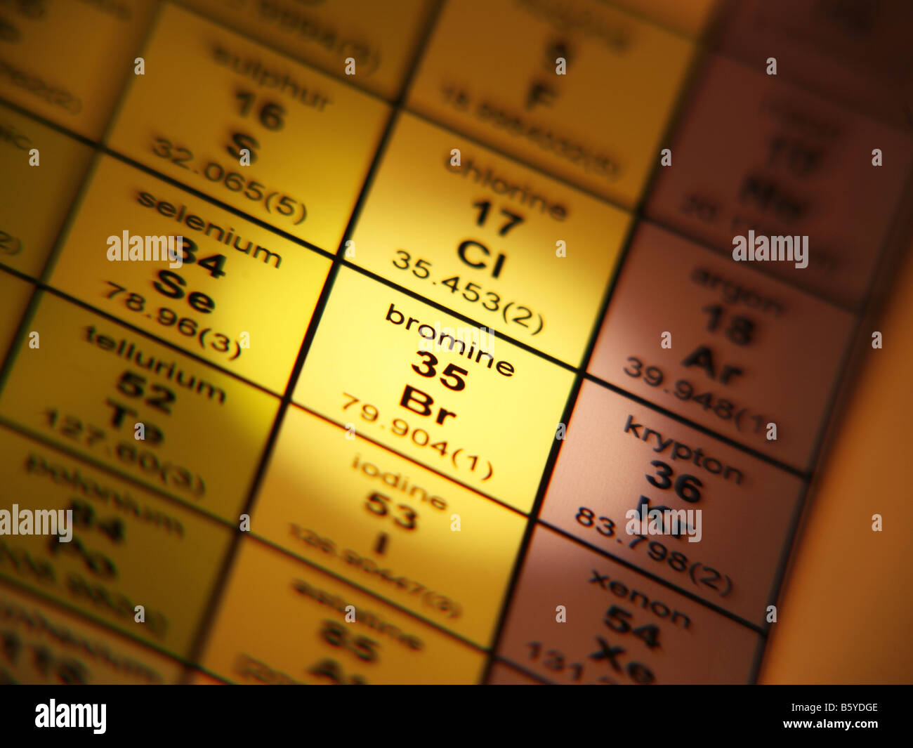 Periodic table of elements bromine halogen stock photo 20887006 alamy periodic table of elements bromine halogen urtaz Choice Image